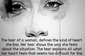 THE TEAR OF A  WOMAN