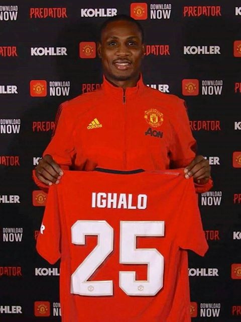 Manchester United has handed over a Jersey Number 25 to Idion Ighalo