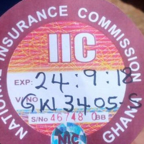 National Insurance Commission, NIC stopped old motor insurance stickers