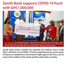 Zenith Bank Ghana Limited has donated (GH¢1,000,000) to COVID-19 Fund