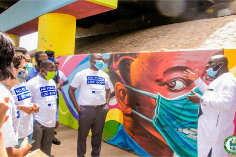 AMA partners IOM to create COVID-19 awareness through art