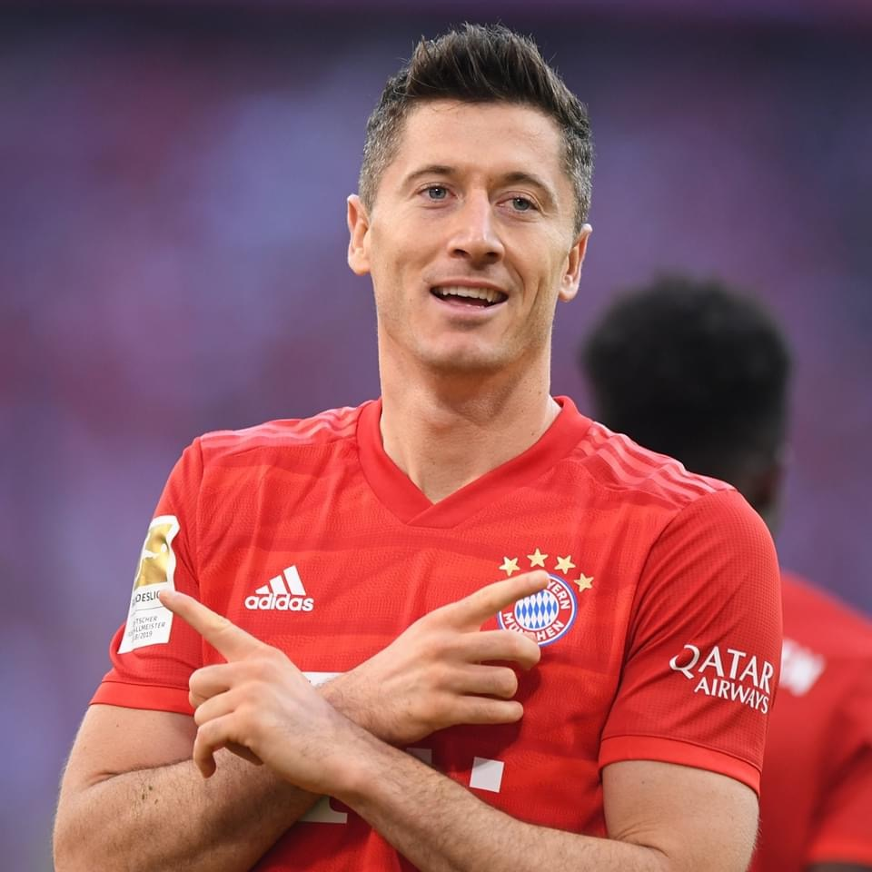 Top scorer in Europe: Robert Lewandowski