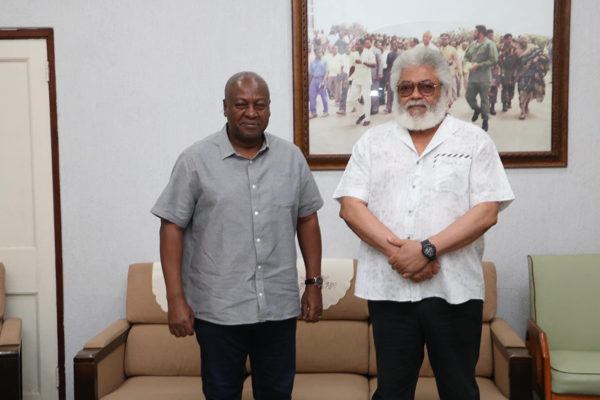 HE Jerry John Rawlings, this morning in his office, to discuss a number of NDC-related issues