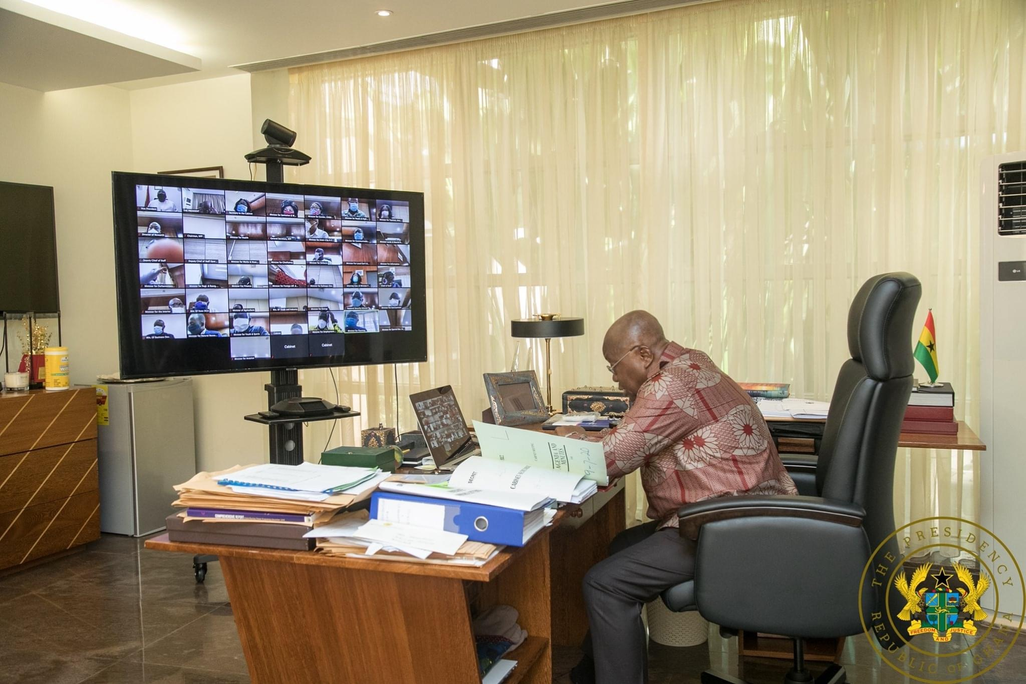 The meeting is being held virtually – President Nana Addo