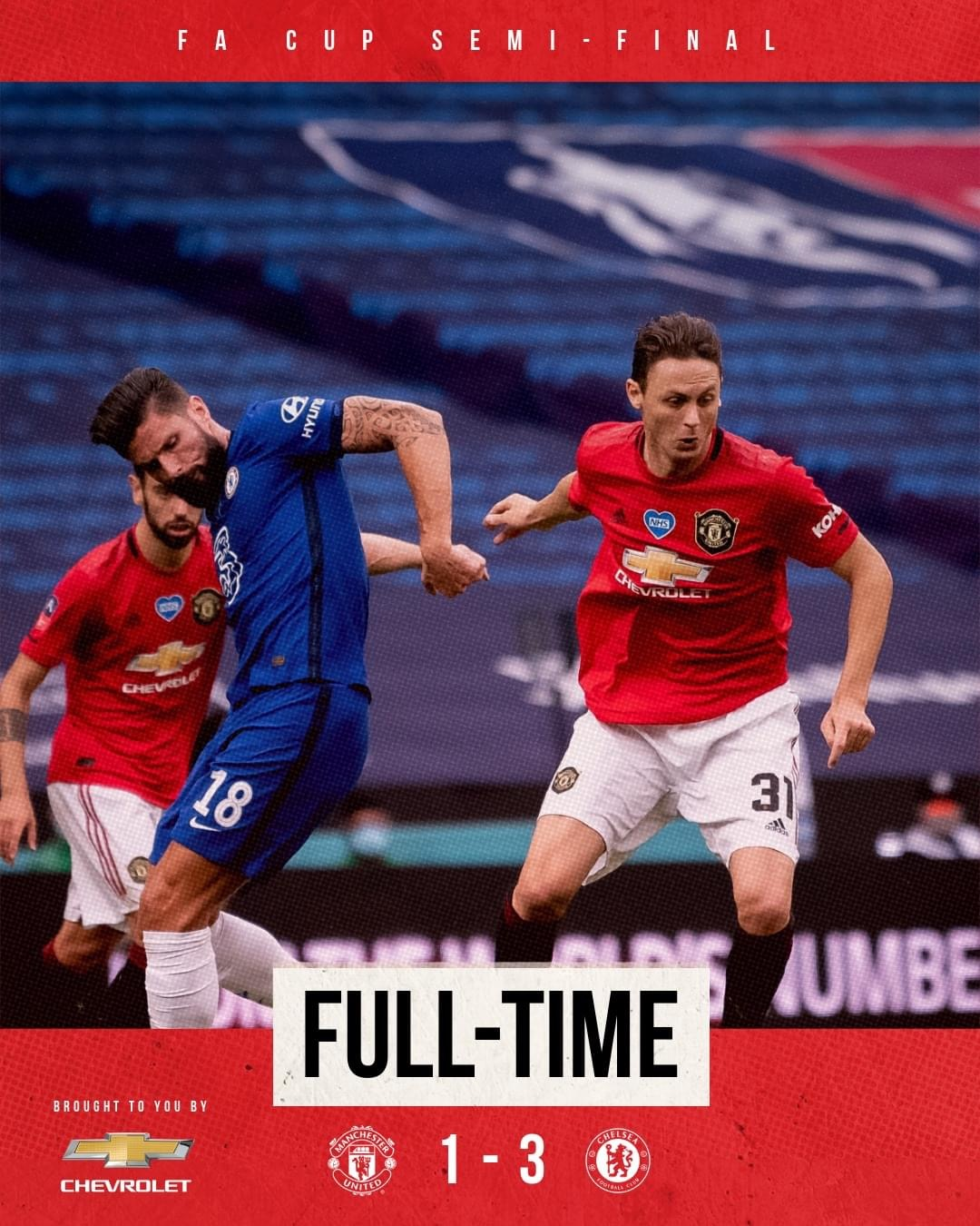 Our FA Cup journey ends at Wembley- Man United