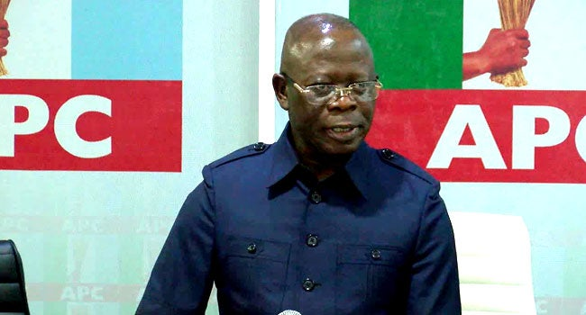 Adams Oshiomhole why he was sacked as APC's National Chairman