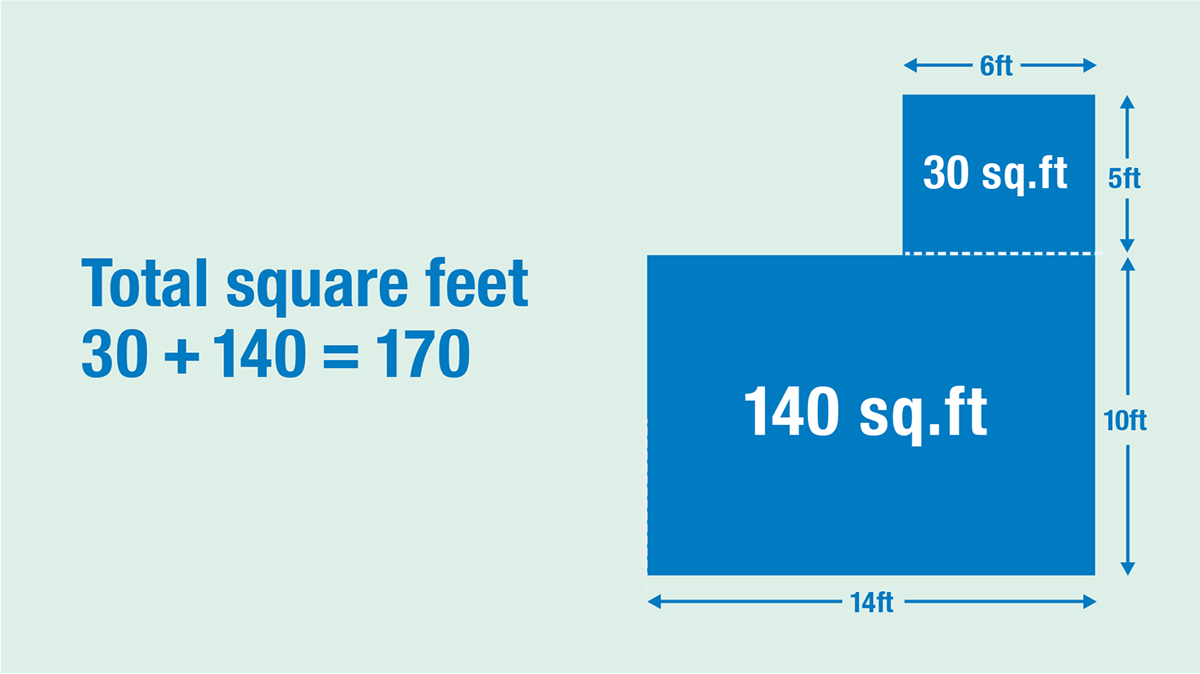 How to calculate square foot